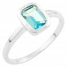 Серебряное кольцо Алсу с топазом лондон