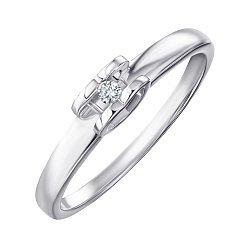 Серебряное кольцо с бриллиантом 000123331