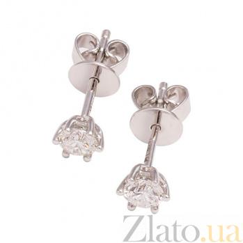 Золотые серьги с бриллиантами Лав 1С034-0706