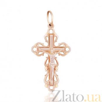 Золотой крестик с распятием Рассвет EDM--КР021
