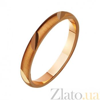 Золотое обручальное кольцо Душевность TRF--411786