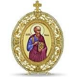 Серебряная финифтьевая икона Святой апостол Павел