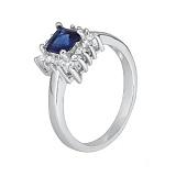 Серебряное кольцо с фианитами Эстер