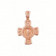 Золотой двусторонний крест Слово Божье