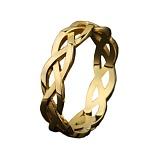 Золотое обручальное кольцо Косичка