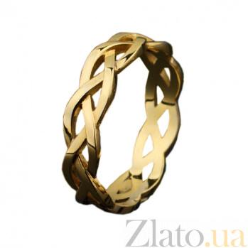 Золотое обручальное кольцо Косичка OB2061