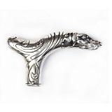 Серебряная ручка для трости Собака