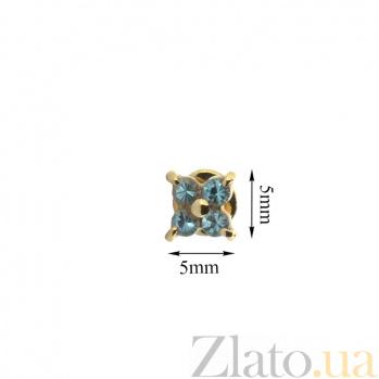 Серьги-пуссеты из красного золота с топазами Мэри ZMX--ET-6560_K
