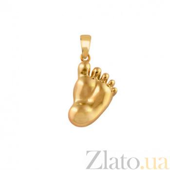 Подвеска Следок из желтого золота VLT--А310-2