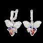 Серебряные серьги с фианитами Летние ночи SLX--СК2ФЦ/477