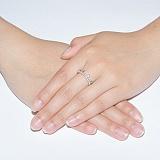 Серебряное кольцо Корона принцессе