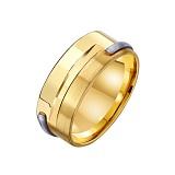 Золотое обручальное кольцо Крепкая семья