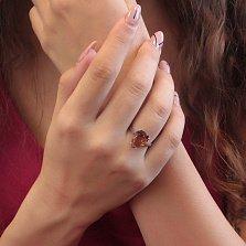 Серебряное кольцо Капля осени с синтезированным султанитом