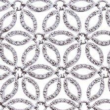 Браслет из серебра Ажур с фианитами