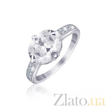 Серебряное кольцо с цирконием Рудусан 000025536