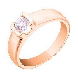 Золотое кольцо с цирконием Swarovski 000036723