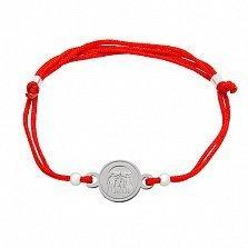 Шелковый браслет со вставкой Счастливая семья