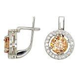 Серебряные серьги Кристалл с фианитами