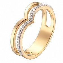 Кольцо в желтом золоте Ожидание с фианитами