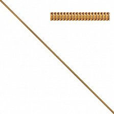 Цепочка из желтого золота Санди в плетении снейк