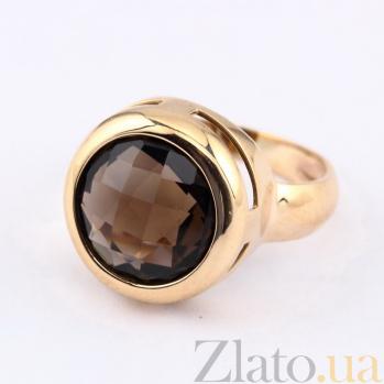 Золотое кольцо с раухтопазом Медисон VLN--112-314-2