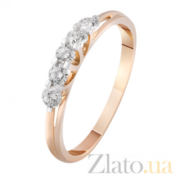 Золотое кольцо с бриллиантами Августа KBL--К1921/крас/брил