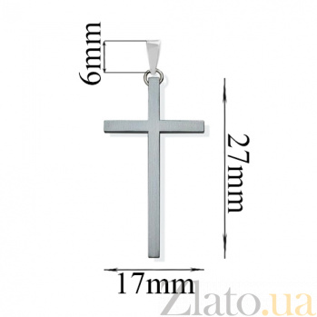Серебряный крестик Гармония 000032472
