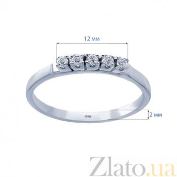 Серебряное кольцо с куб. цирконом Изабель AQA--ПК-006