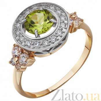 Золотое кольцо с хризолитом Каллисто AUR--31722 07