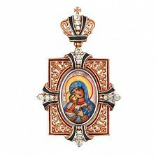 Золотая ладанка Богородица с Младенцем
