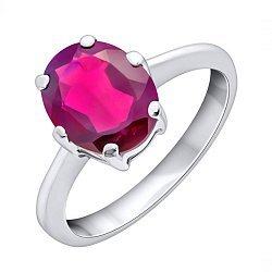 Серебряное кольцо с гранатом 000131717