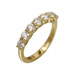 Кольцо из желтого золота Присцилла с бриллиантами
