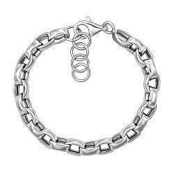 Серебряный браслет в якорном плетении 000124508