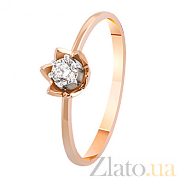 Золотое кольцо с бриллиантом Лилия KBL--К1902/крас