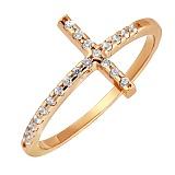 Кольцо в красном золоте Вера с фианитами
