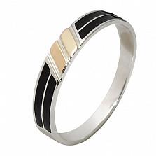 Серебряное кольцо с золотой вставкой Карина