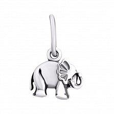 Серебряный кулон Слон