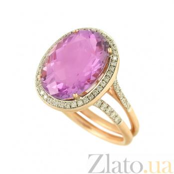 Золотое кольцо с аметистом и бриллиантами Юнис 1К034-0707
