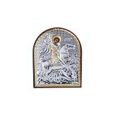 Серебряная икона Георгий Змееборец