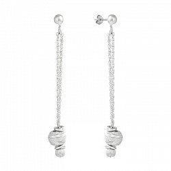 Серебряные серьги-подвески 000025947