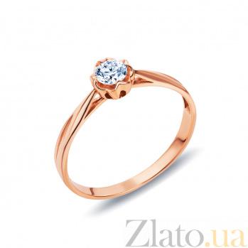 Золотое кольцо с бриллиантом AQA--1110021