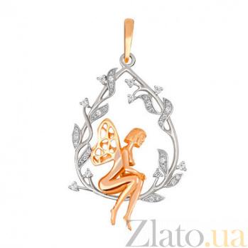 Кулон Эльфийка из желтого золота VLT--Т3515