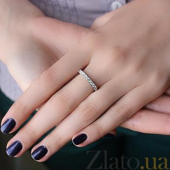 Золотое кольцо с бриллиантами Патрисия KBL--К1975/бел/брил