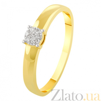Золотое кольцо с бриллиантами Розина KBL--К1968/жел/брил