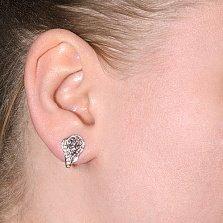 Серебряные серьги со вставкой из фианита Восхищение