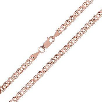 Ланцюжок зі срібла з позолотою, 3,5 мм 000026134