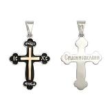Серебряный крестик с золотой вставкой Православие
