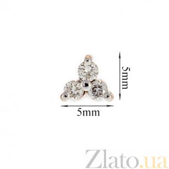 Золотые серьги с бриллиантами Хлоя 000022011
