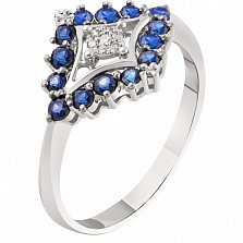 Золотое кольцо с сапфирами Атлантида