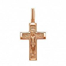 Крестик в красном золоте Верность традициям